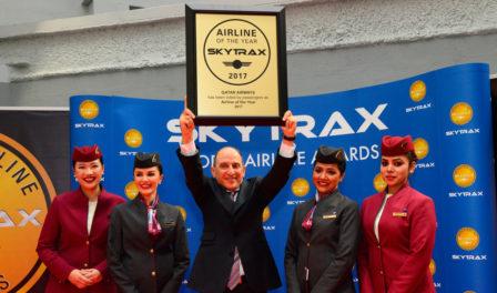 卡塔尔航空为2017年度航空公司