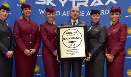 卡塔尔航空被评为2015年度航空公司