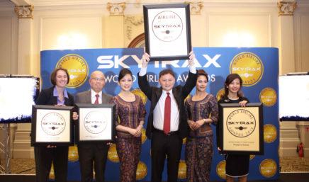 新加坡航空被投票评选为2018年全球最佳航空公司