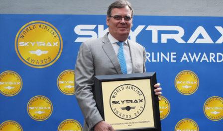 蔚蓝航空为南美最佳区域性航空公司