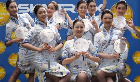 海南航空乘务员表演