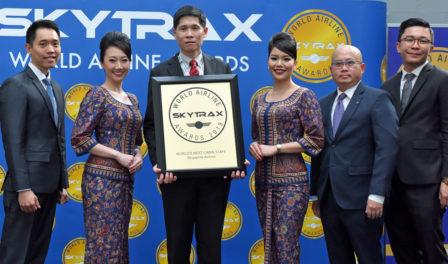 新加坡航空为全球最佳乘务员