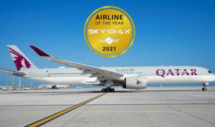 卡塔尔航空 2021 年全球最佳航空公司