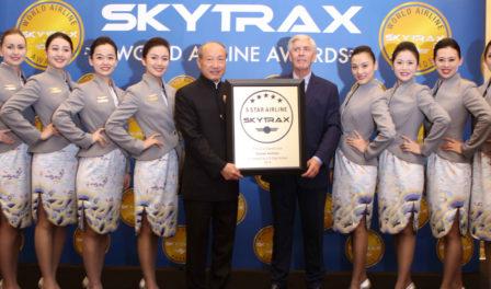 chen feng presidente del grupo hna en los premios de skytrax