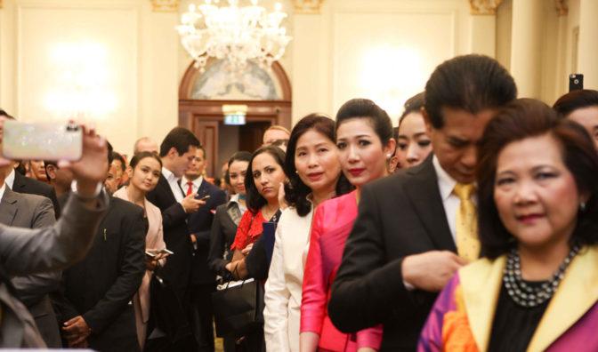 observadores en la ceremonia de los premios