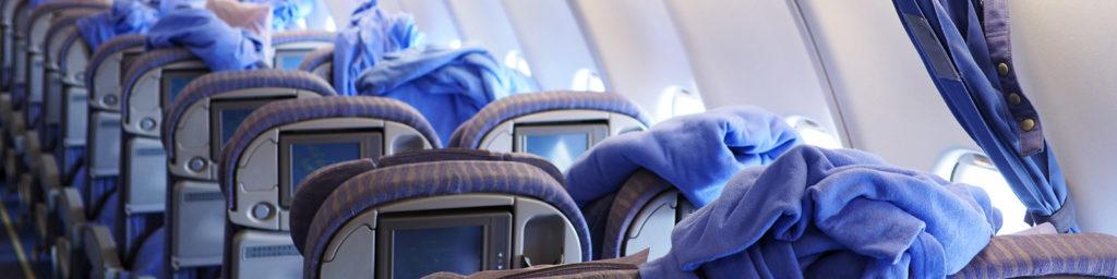 limpieza de cabina de las aerolíneas