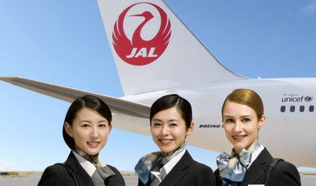 tripulación de cabina de japan airlines