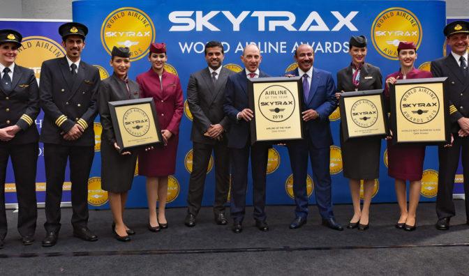 celebración del grupo de qatar airways