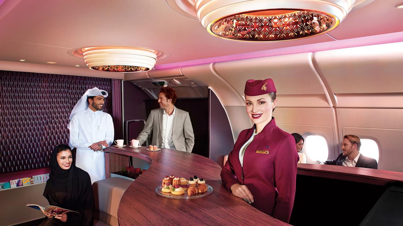 qatar airways onboard bar