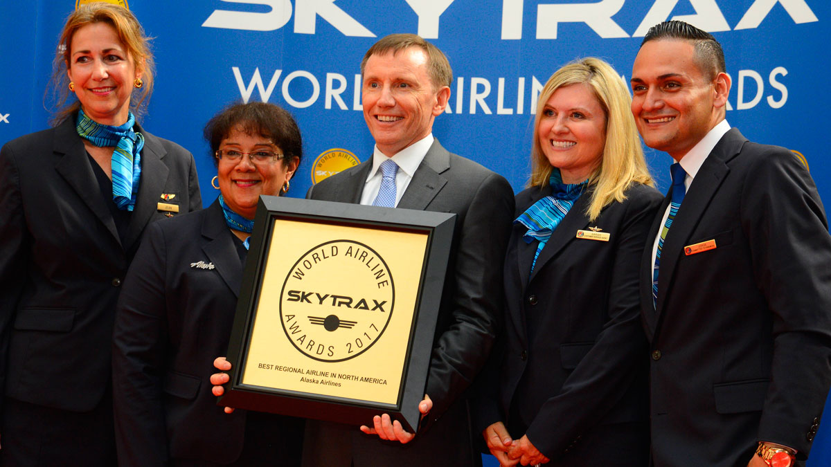 alaska airlines world airline awards