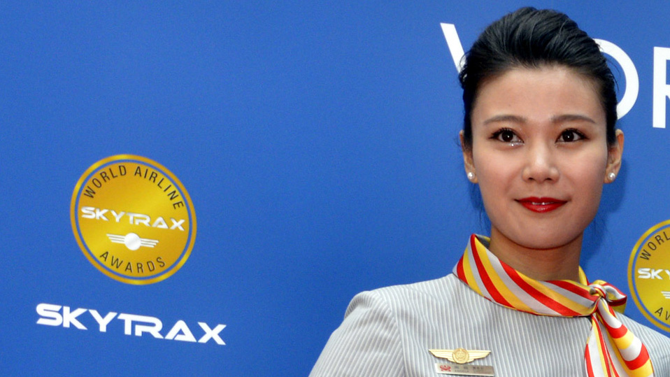 hainan airlines cabin crew at the 2015 awards