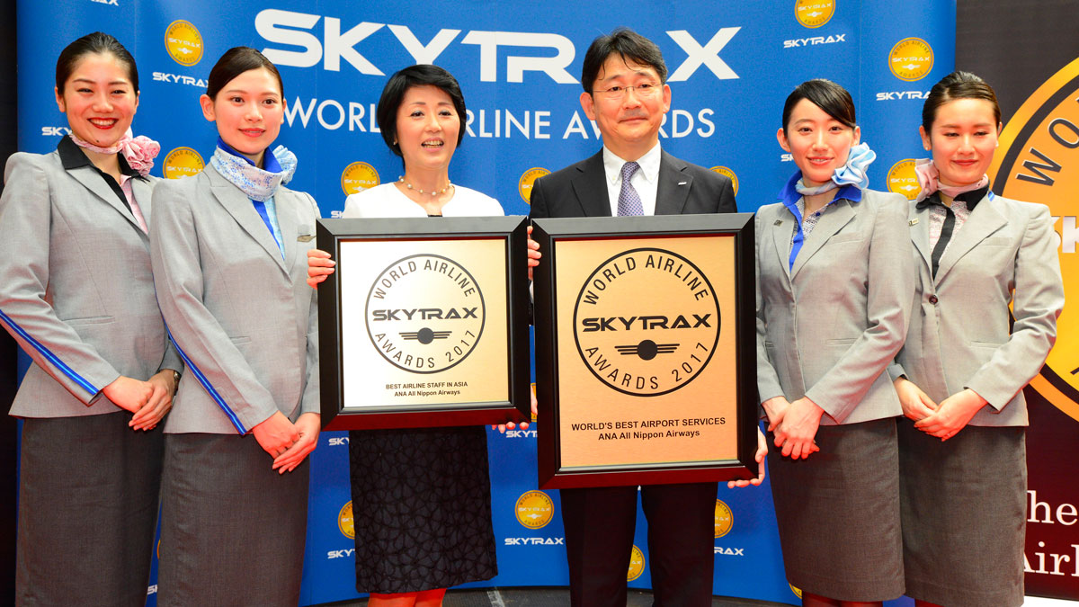 ana all nippon airways with 2017 awards