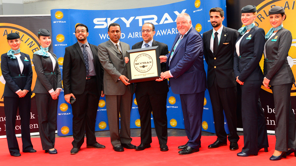 flynas attend the 2017 skytrax awards