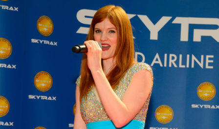 hayley griffiths singing at the awards