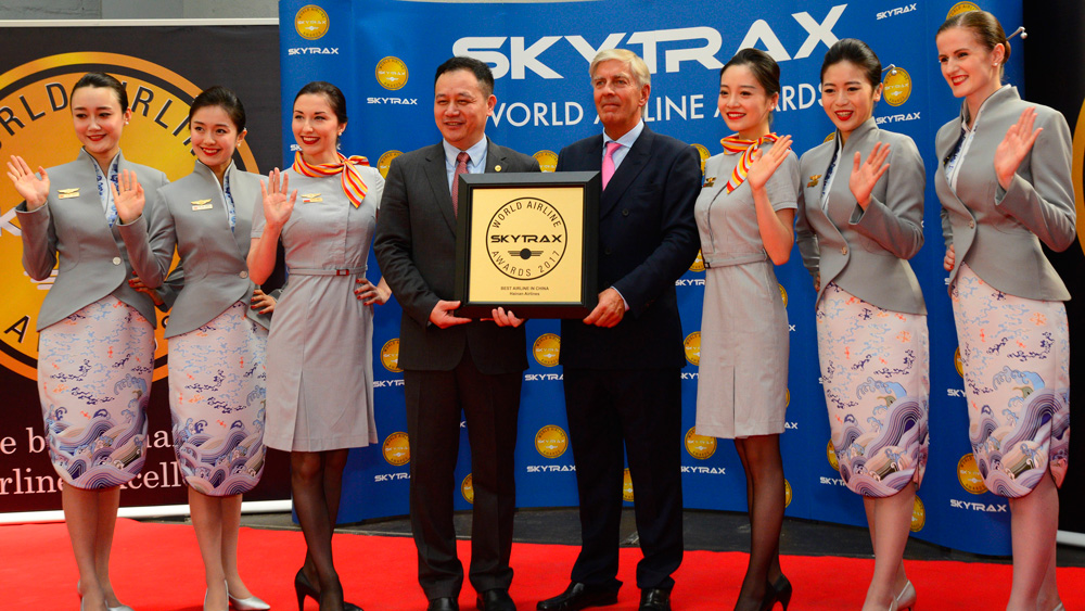 hainan airlines named best airline in china 2017