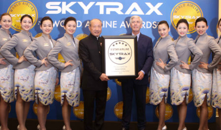 mr chen feng chairman of hna group at skytrax awards