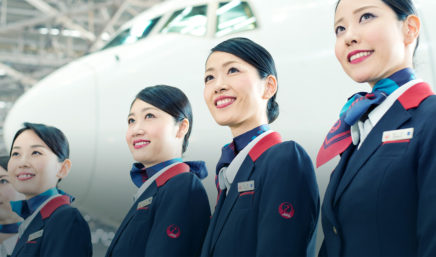 japan airlines staff