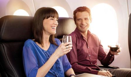 premium economy passengers onboard air new zealand
