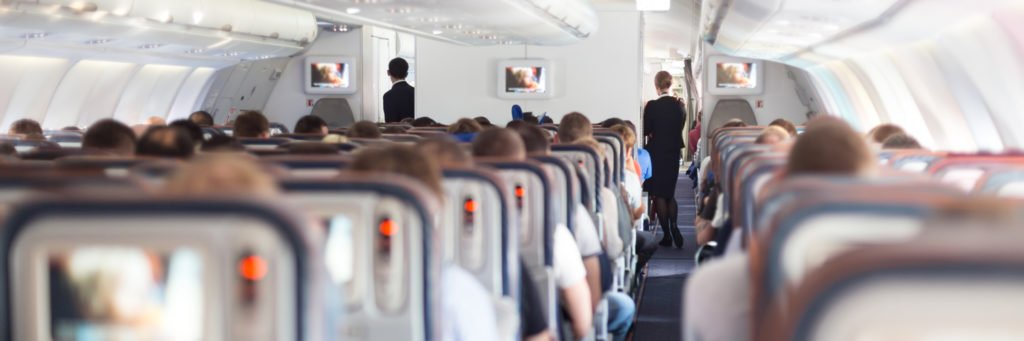 busy aircraft cabin