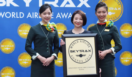 eva air best airline cabin cleanliness