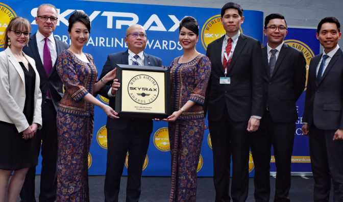 singapore airlines best airline in asia